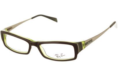 Occhiali da vista Ray-Ban donna 5136. Colore: 2287 verde. Forma: rettangolare. Materiale: acetato.