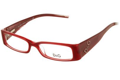 Occhiali da vista D&G 1102. Colore: 610 rosso. Calibro 50-16. Materiale: acetato.