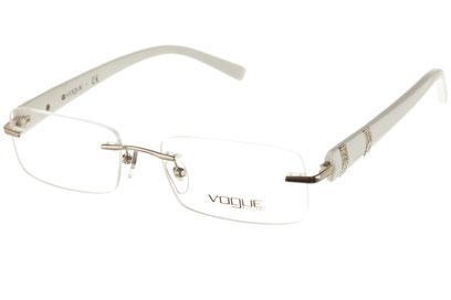 Occhiali da vista Vogue donna 3714. Colore: 323 argento. Forma: rettangolare. Materiale: metallo.