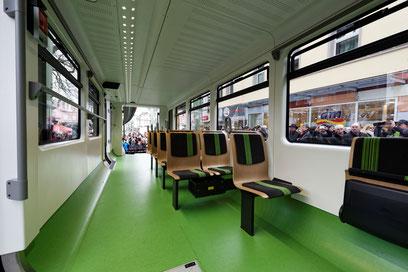Wuppertal Schwebebahn: Interior of the friction stir welded suspended monorail