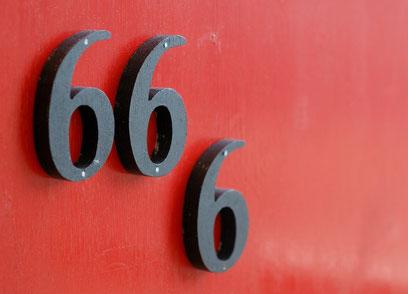 Le chiffre 6 est ici répété 3 fois, le nombre 3 indiquant la répétition, l'insistance, l'accentuation. Le nombre 666 accentue donc l'idée d'imperfection de la bête sauvage, système politique regroupant la quasi-totalité des pays du monde.