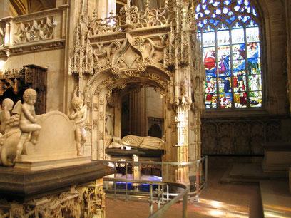 Bild: Das Grab von Margarete von Österreich in der Monastére de Brou in Bourg-en-Bresse
