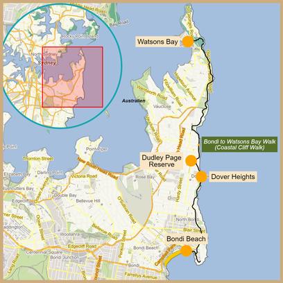 Australien, Australia, Reisebericht Australien, Reisebericht NSW, Reisebericht Sydney, Watsons Bay, Gap Park, Federation Cliff Walk Map, Federation Cliff Walk, Dover Heights, Dudley Page Reserve, Coastal Cliff Walk, Coastal Cliff Walk Map