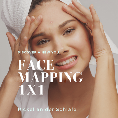 Face Mapping - Pickel an der Schläfe