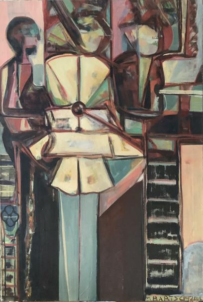 Im Ballettsaal 140 x 95 Öl Lw 2002