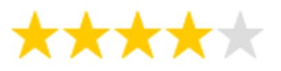 4 Sterne Bewertung für das Hylo Gel (Sicca Syndrom/Trockene Augen)