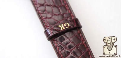 Rolex datejust Rolex watch strap. Hand-sewn crocodile