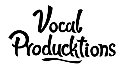 vocal producktions logo with only letters
