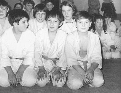 Nos débuts au judo avec mon ami Daniel Chastang (à droite)