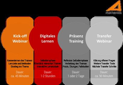 Vorstrukturiertes Blended Learning erleichtert die Umsetzung