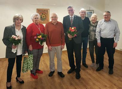 v.l.: Jutta Wolter, Angelika Froböse, Martin Wehner, Rolf Hojnatzki, Wolfgang Thies, Ingrid Nagel, Klaus-Reiner Schütte