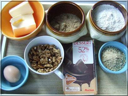 ingredient pour biscuit sable aux noix