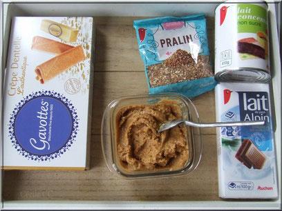 ingredient pâte à tartiner maison et ganache