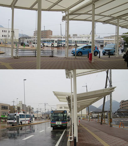 JR野洲駅南口ロータリー(2017年)