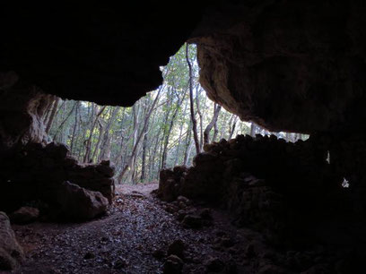 Grotta del Mulo uscita