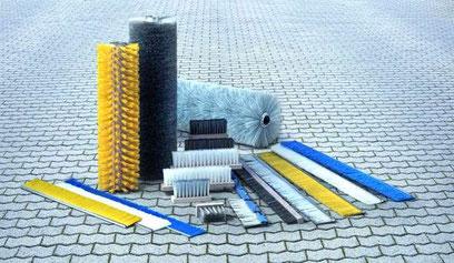 Cepillos produccion piezas de hormigón