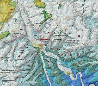 Formation géologique du Chablisien et principaux Premiers Crus