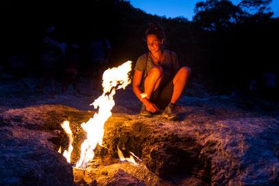 Viviane at the Burning Mountain Chimera