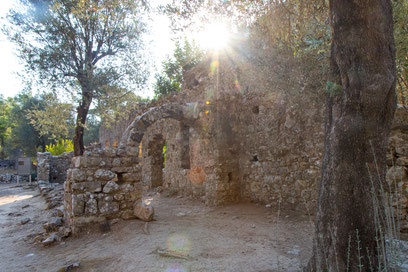 The ancient city of Olympos