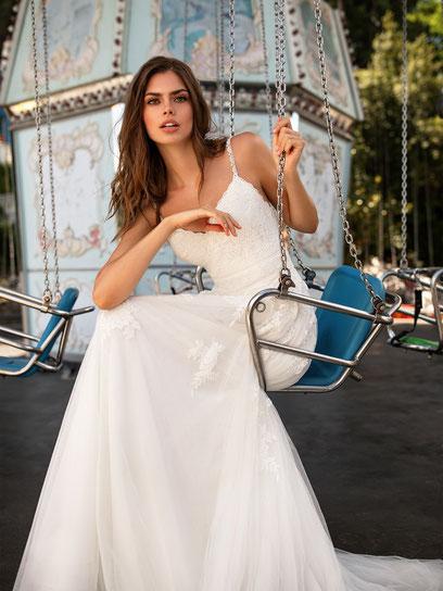Vintage Brautkleid von White one aus dem Hause Pronovias