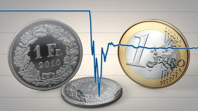 Die SNB hebt den Euro-Mindestkurs auf. Bild: SRF