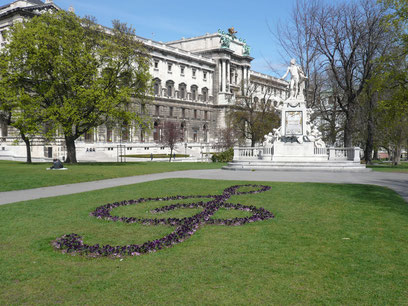 王宮庭園 モーツァルト像
