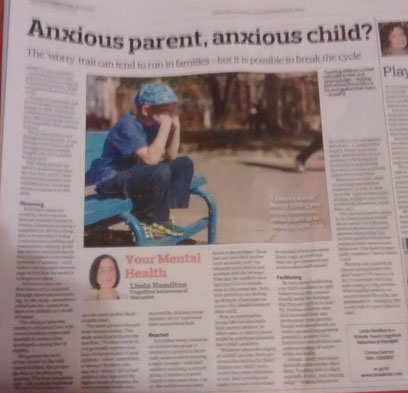 Linda Hamilton's Southern Star column, 'Anxious parent, anxious child?'