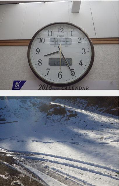 大雪!寒いですね〜