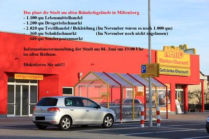 Neubebauung Gelände alter Bahnhof Miltenberg