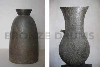 Fig. 6. (Left) PPNM Kandal bell (H55 / D27 cm) / Fig. 7. (Right) PPNM Chek Angre urn (H55 / D25 cm)