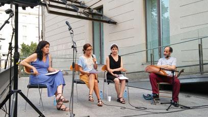 Cristina Rivas parlant de Fadwa Souleimane