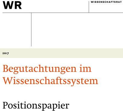 Foto: Titelseite des Positionspapiers