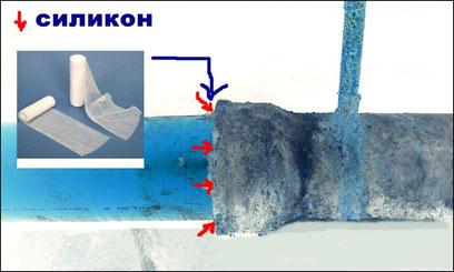 Как устранить течь на стыке в чугунной канализационной трубе