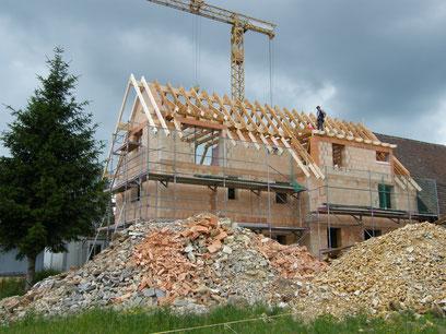 Aufbau vom Dach