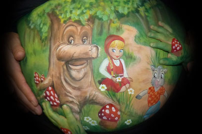 Wil jij ook een sprookje of een fantasiewereld op jouw buikschildering?