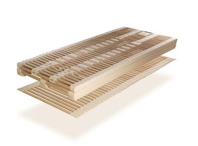 ProNatura Schlafsystem ULTRAflex trio mit Rollrahmen und Naturholzergomellen
