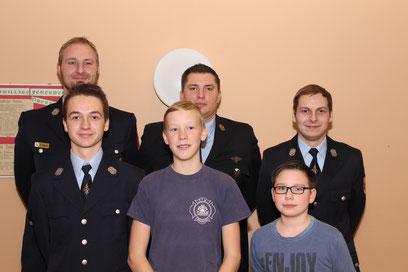 Hinten links nach rechts: Thomas Gessner, Daniel Salm, Tobias Schmitt - Vorne links nach rechts: Manuel Schmitt, Noris Albert, Fabio Schmitt