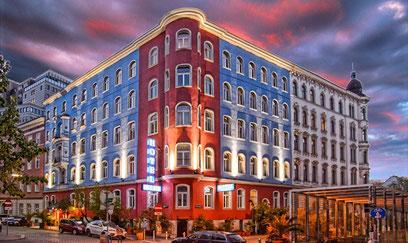 Messe Wien Hotel Empfehlung, Design Hotel im Zentrum von Wien Prater, Hotel Urania direkt buchen, Geld sparen!