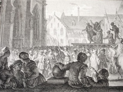 Parvis de Notre-Dame - Gravure du XVIIIe siècle