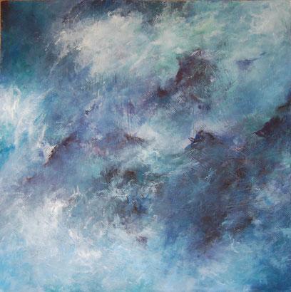 Silence, peinture à l'huile d'Estelle Darve