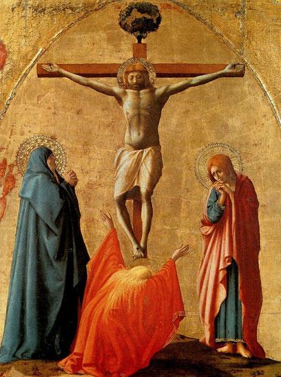 """Masaccio, """"Crocifissione"""" (1426)"""