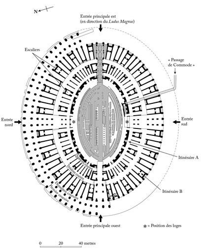 Rome - Plan du Colisée - Italie