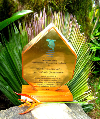 EMA Environmental Management Agency merit award. NGO. Wildlife conservation.