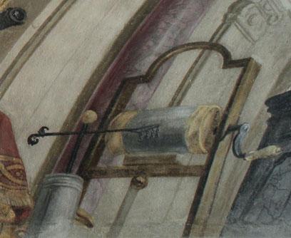 Elektrisiermaschine und Leidener Flasche im Speinsharter Bibliotheksfresko (Abb.: Werner Telesko, Wien).