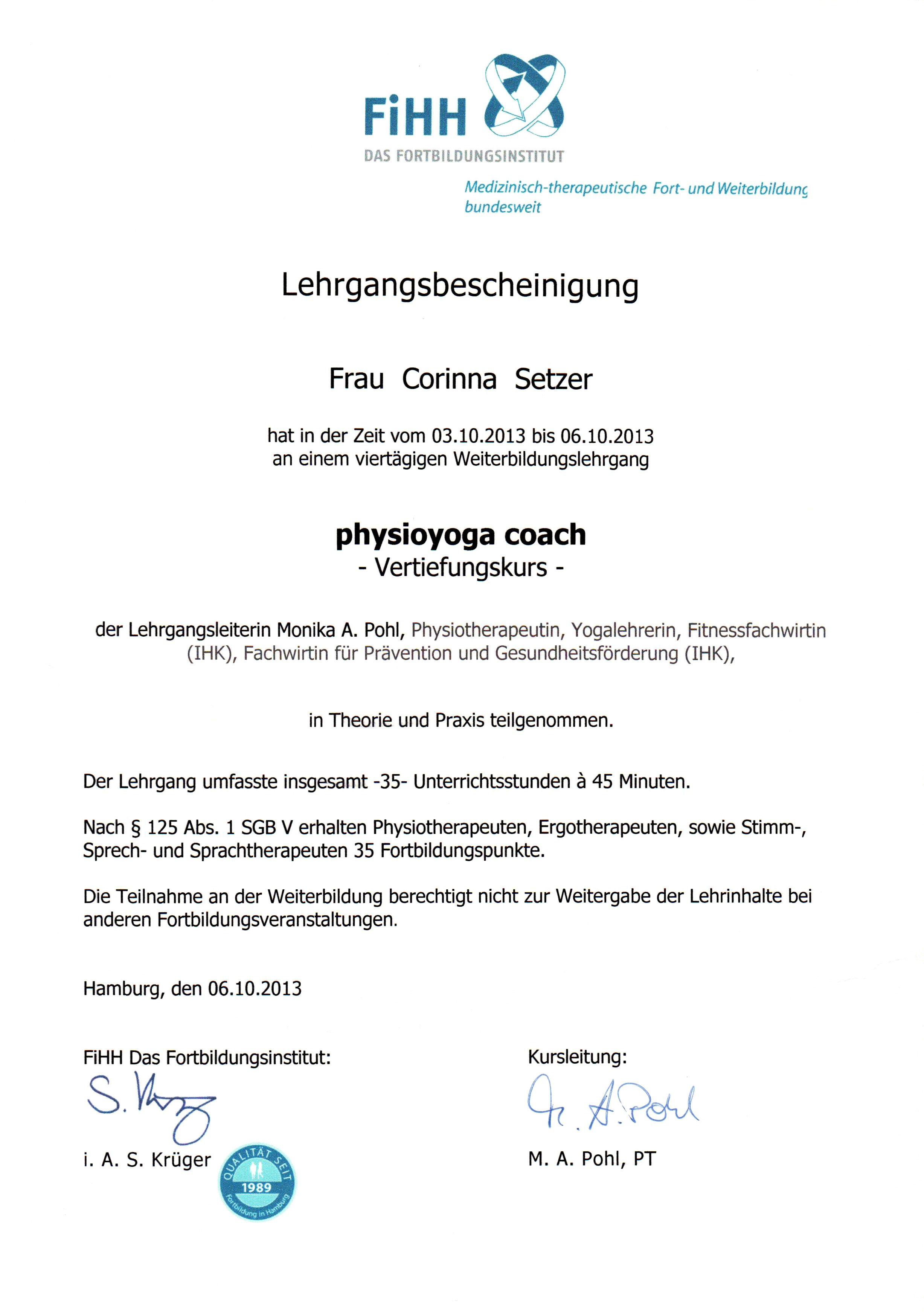 Corinna Setzer, Zertifikate - Corinna Setzer - Osteopathin ...