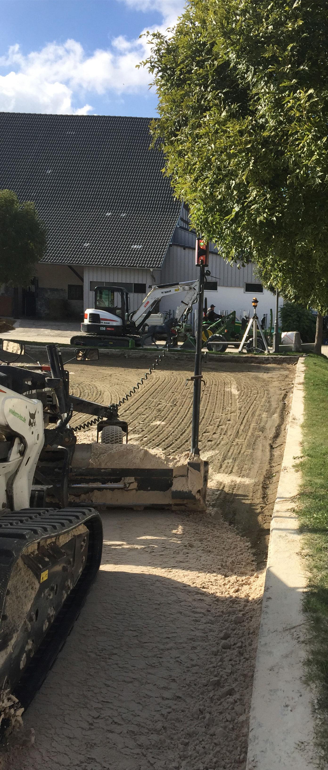 Ebbe flut bewässerungssystem reitplatz