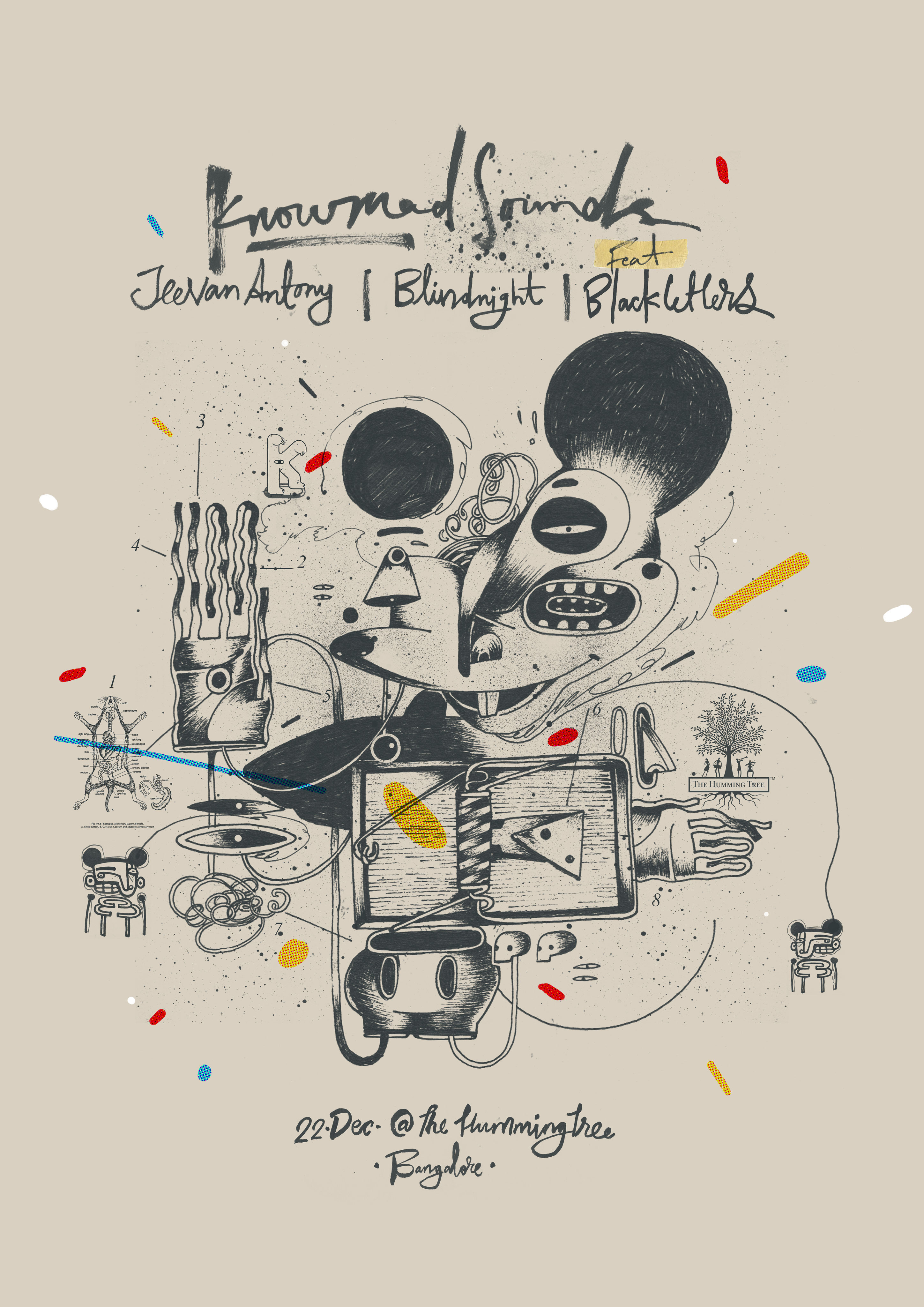 Knowmad Sounds : Gig Poster - Indian illustrator and ...