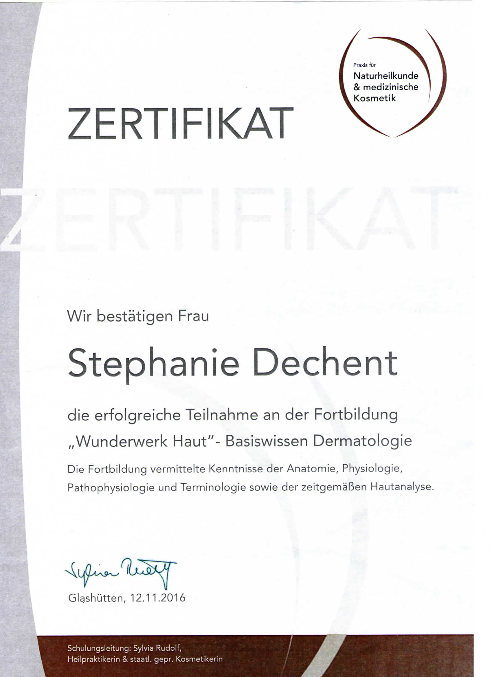 Zertifikate - Finest Beauty Selection das Anti-Aging Fachinstitut in ...