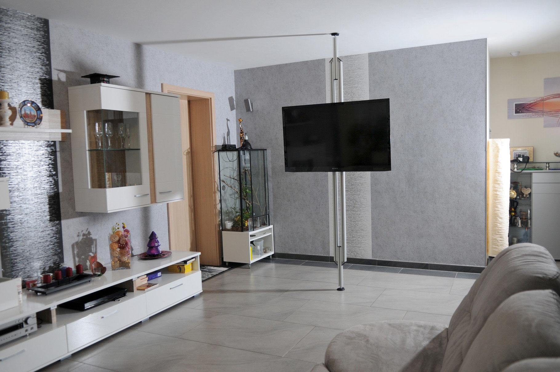 tv stangen uniprof flexi twinni solo bilder von unseren kunden uni prof 24. Black Bedroom Furniture Sets. Home Design Ideas