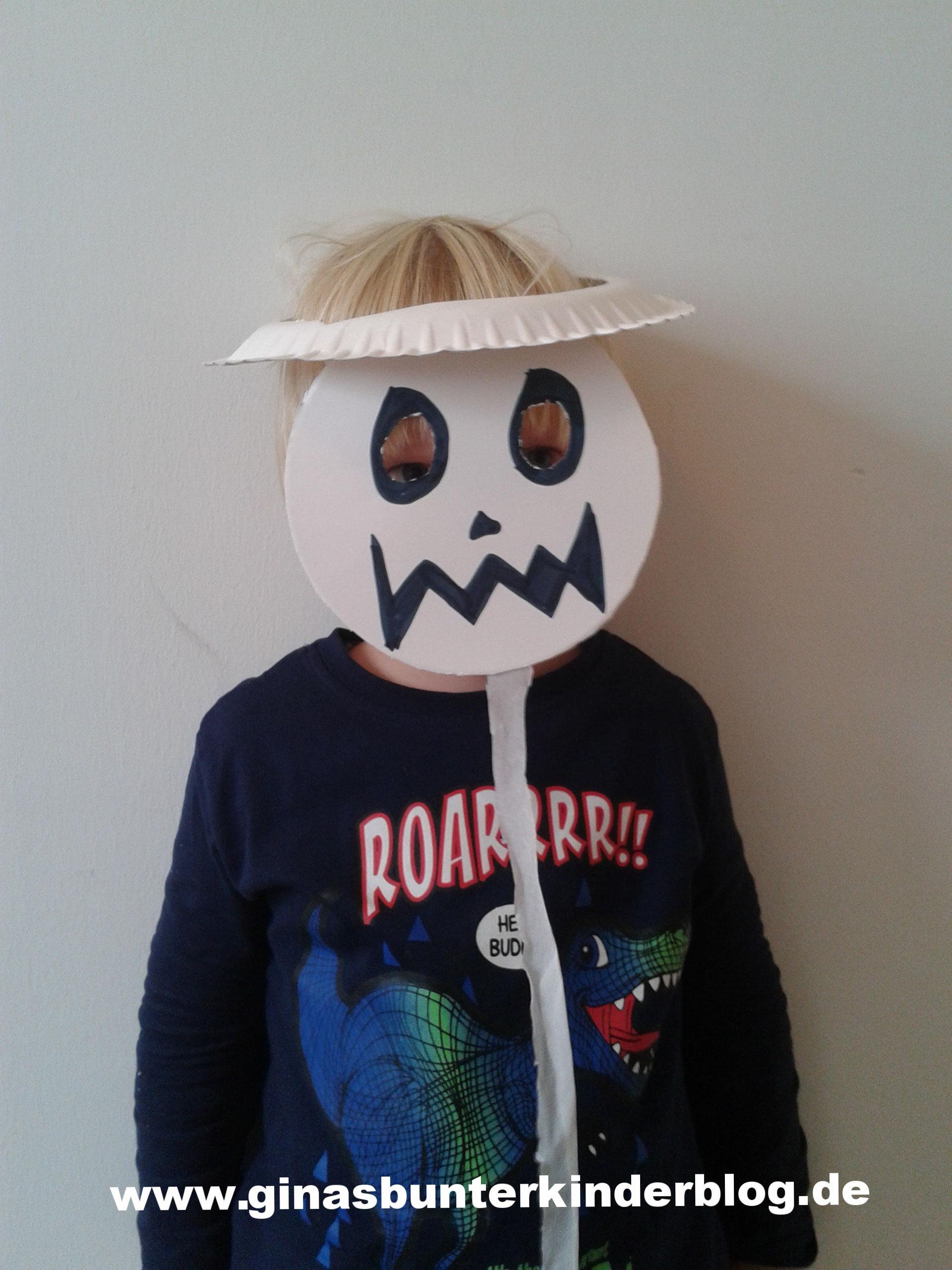 Einfache Halloween Maske Ginasbunterkinderblogs Der